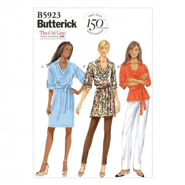 Butterick Patterns B5923 Misses' Top, Tunic, Dress and Belt Sewing Template, Size ZZ (LRG-XLG-XXL)