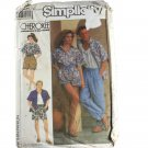 Simplicity 9235  Cherokee Misses Mens, Teen Boys Loose-Fitting Pants, Shorts,Shirt Size XS,S,M,L,XL