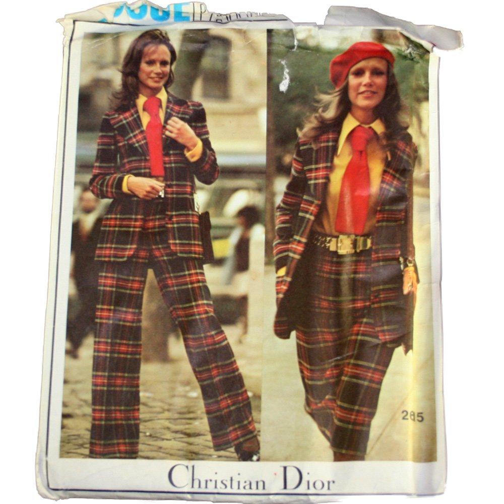 Vogue 2615 Christian Dior Misses Jacket,Shirt,Pants,Shorts,Tie Size 10
