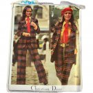 Vogue 2615 Christian Dior Misses Jacket,Shirt,Pants,Shorts,Tie Size 10