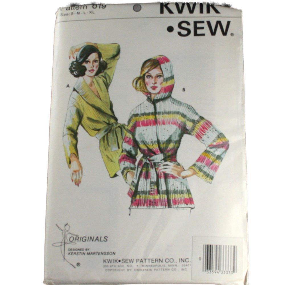 Kwik Sew 619 Sewing Pattern Misses Wrap Cardigan Size S,M,L,XL