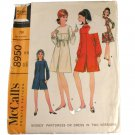 McCall's Sewing Pattern 8950 Misses Pantdress or Dress in Two Variations Size 12