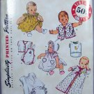Simplicity Sewing Pattern 3508 Babies' Layette Outfits Accessories Vintage '50s Style Reproduction