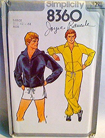 Simplicity Pattern #8360 SZ Large (42-44) MEN'S UNLINED JACKET WITH OR WITHOUT HOOD, PANTS & SHORTS