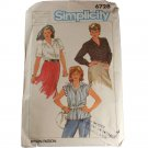 Simplicity Sewing Pattern 6728 Misses Blouses Size 40,42,44,46