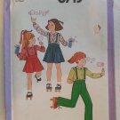 Simplicity 8713 Girl's Shirt, Pants & Skirt Size 5