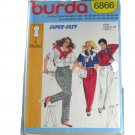 Burda 6866 Sewing Pattern Misses Pleated Slacks sz 8-40