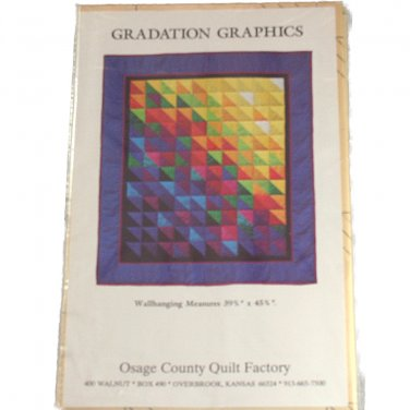Osage County Quilt Factory Gradation Graphics Quilting Pattern 39-3/4 x 45-3/4 Inches