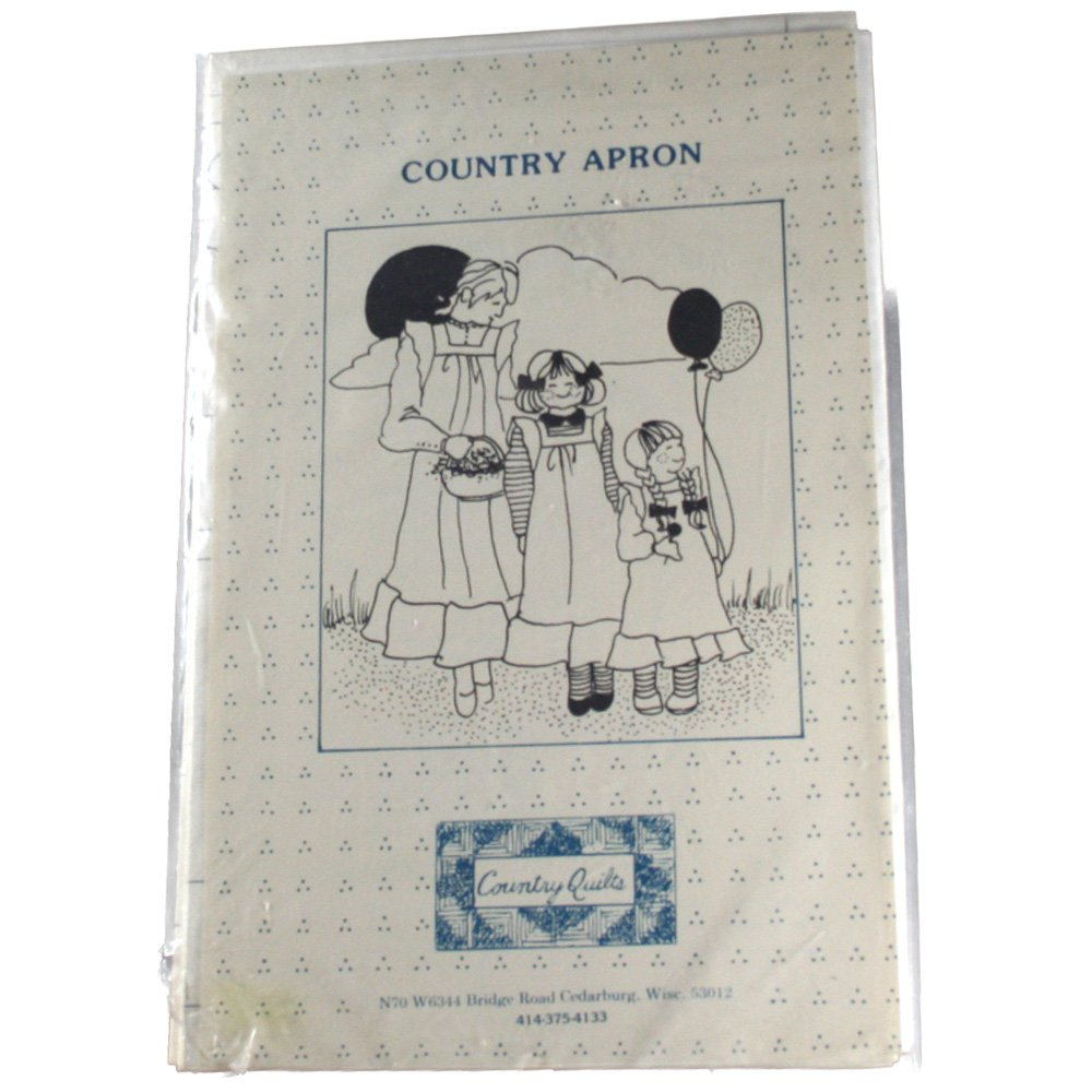 Country Quilts Sewing Pattern Country Aprons Size Adult,Young Junior and Infants