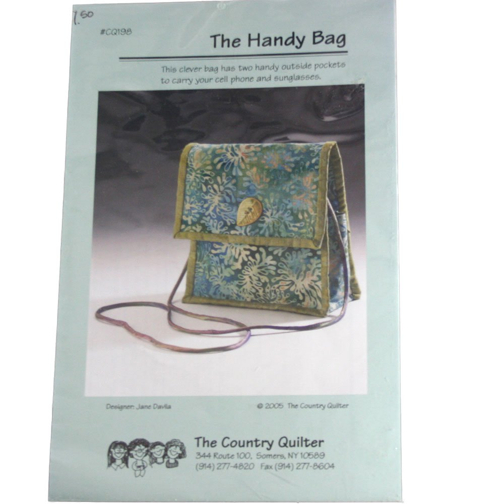 The Country Quilter CQ198 Sewing Pattern The Handy Bag