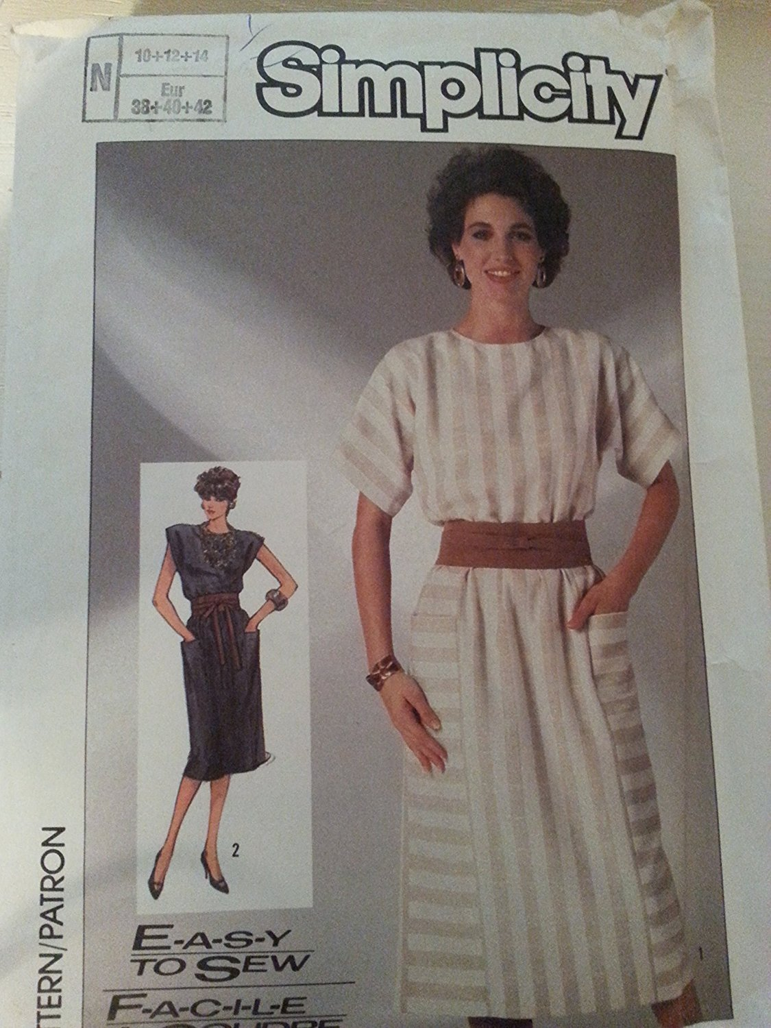 Simplicity 7553 Misses Fast to Sew Dress N (10-12-14)