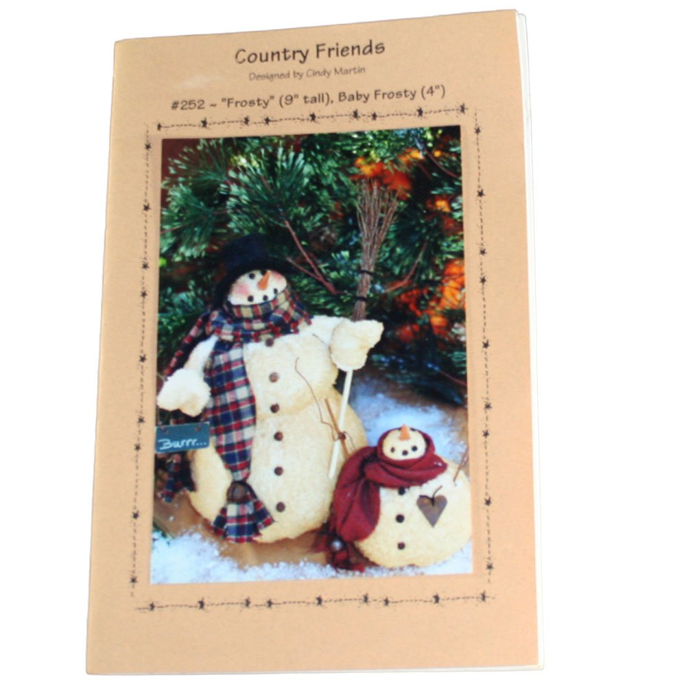 Country Friends 252 Frosty and Baby Frosty Sewing Pattern