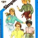 Simplicity 6560 Sewing Pattern Toddler Girls Button Front Blouse Size 5