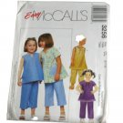 McCall's 3256 Sewing Pattern Girls Top and Pull-on Pants in Two Lengths Size CL 6,7,8