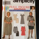 Simplicity 7858 Women's Petite Dress or Top and Skirt, Size GG (26W-32W)