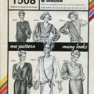 Stretch & Sew Pattern 1508 ~ Side-Draped Dress & Blouse ~ Bust 30-46
