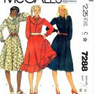 McCall's 7288 Sewing Pattern Flared Pullover Dress Size 14 - Bust 36