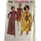 Simplicity 7018 Misses One-Piece Dress in Two Lengths Vintage