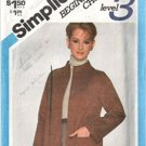Simplicity 5263 Beginner Sewing Pattern  Easy Sew Jacket Size 10
