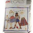 McCall's 7027 Girls Top in Two Lengths,Skirt in Two Lengths and Shorts size CH 7,8,10