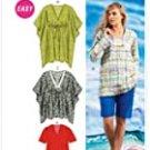McCall's Sewing Pattern M6753 Misses Tunics Sz  XSM, SM. MED