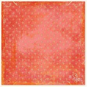 Amazing Grace Collection - Cross Print Crimson