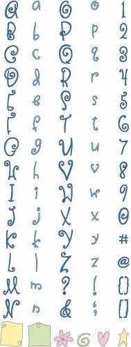 Cuttlebug Alphabet Die Set - Curls & Swirls