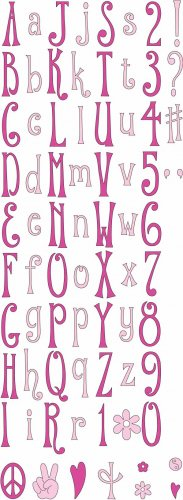 Cuttlebug Alphabet Die Set - Hippie Chick