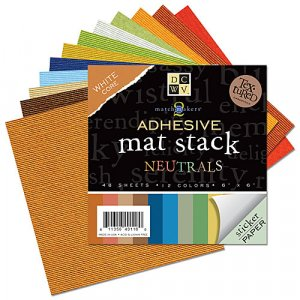 Adhesive Backed 6x6 Cardstock - Neutrals