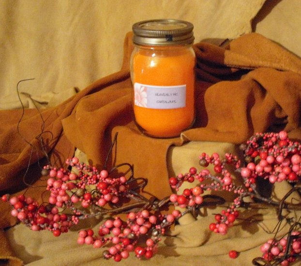 SOLD ~ Cantaloupe Candle ~ SOLD