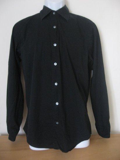 BANANA REPUBLIC BLACK DRESS STRETCH BUTTON SHIRT M