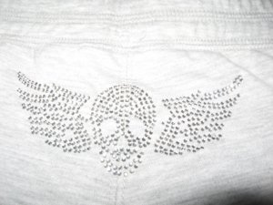 SO SEXY LOW SKULL EMBELLISHED BUTT GYM BEACH SHORTS S