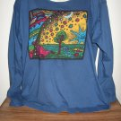GOLDEN SWAN BLUE PRINT SCRUB STYLE L/S TOP 3/49