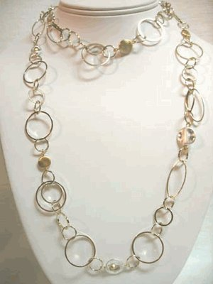 Handcrafted Gold Link Necklace
