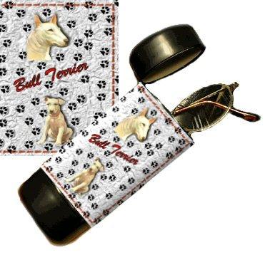 Bull Terrier Eyeglass Or Sunglass Case