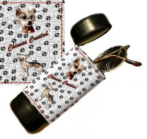 Chinese Crested Eyeglass Or Sunglass Case