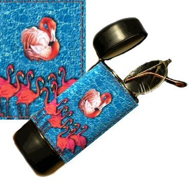 Flamingo Eyeglass Or Sunglass Case