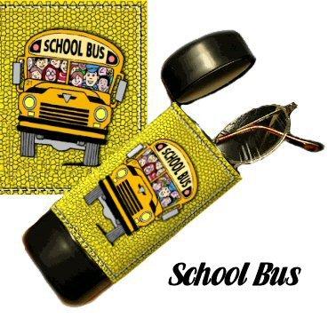 School Bus Flip Top Eyeglass / Sunglass Case