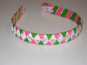 Pink Cherry Sundae Ribbon Headband