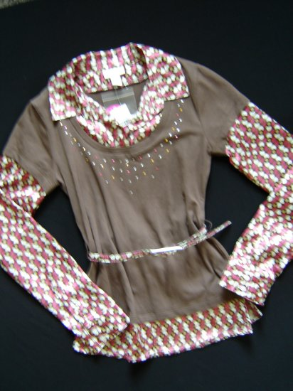 NWT Trendy Layered Look Top by Limited Too Size 12 New
