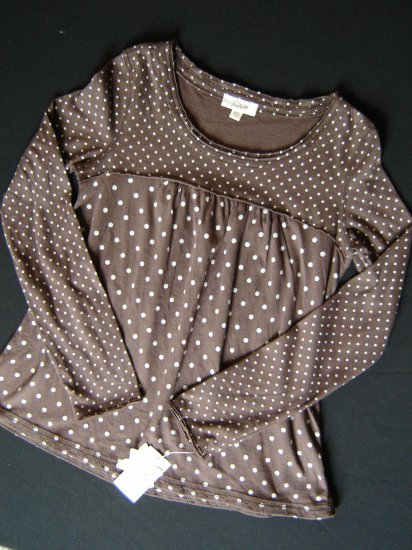 NWT Girl's Grane Size Large L Trendy Brown Empire Waist Knit Top 50% Off New