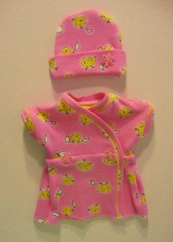 Pink Baby Chick Preemie Dress Set (fits infants 2-4 Pounds)
