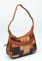 Brown Patchwork Leather Purse (004-011)