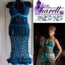 *Custom Order* Crochet Diamond Mesh Cover Up Dress