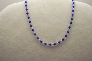 Cobalt Blue and Crystal Necklace
