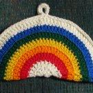 Crochet Rainbow Potholder