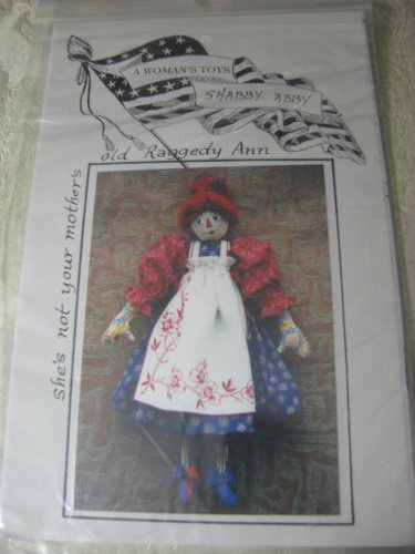 """Shabby Abby- Old Raggedy Ann Doll 21""""  Pattern"""