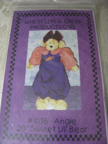 """Angie 20""""Sweet Lil' Bear Pattern by Whistlepig Creek Productions"""