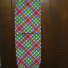 Pink, Blue, Green Plaid  Grocery Bag Holder.