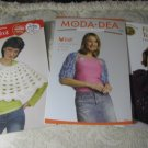 4 Crochet Pamphlets- Sweater,Shrugs, Poncho, Vest,Hat, etc Crochet Patterns